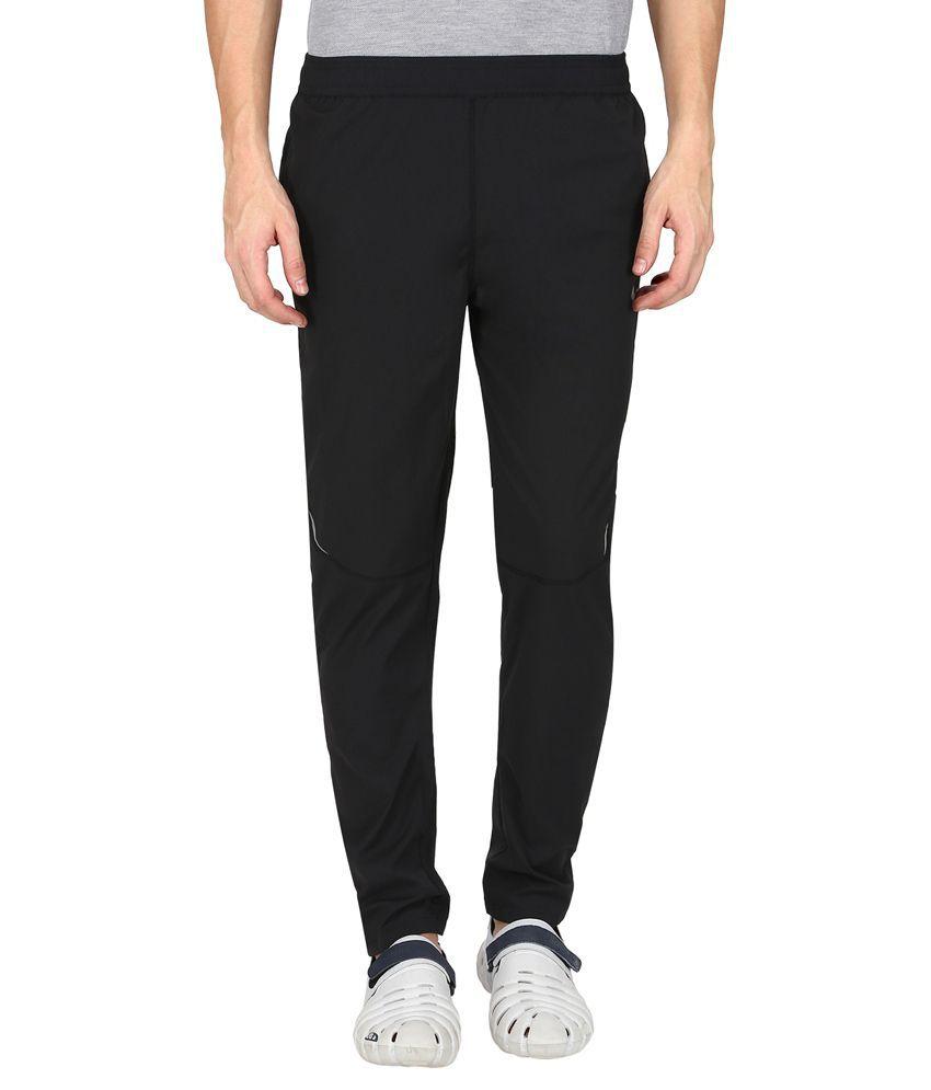 Nike Black Polyester Lycra Trackpant