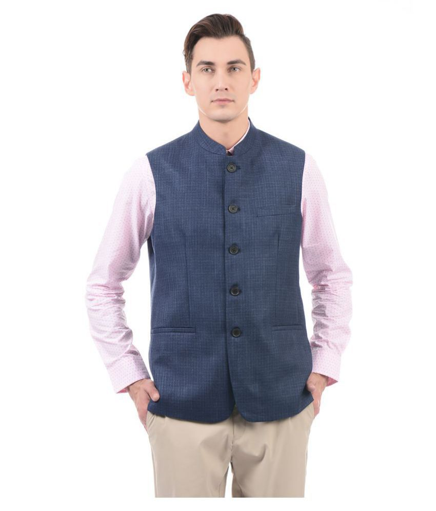 U.S. Polo Assn. Blue Nehru Jacket