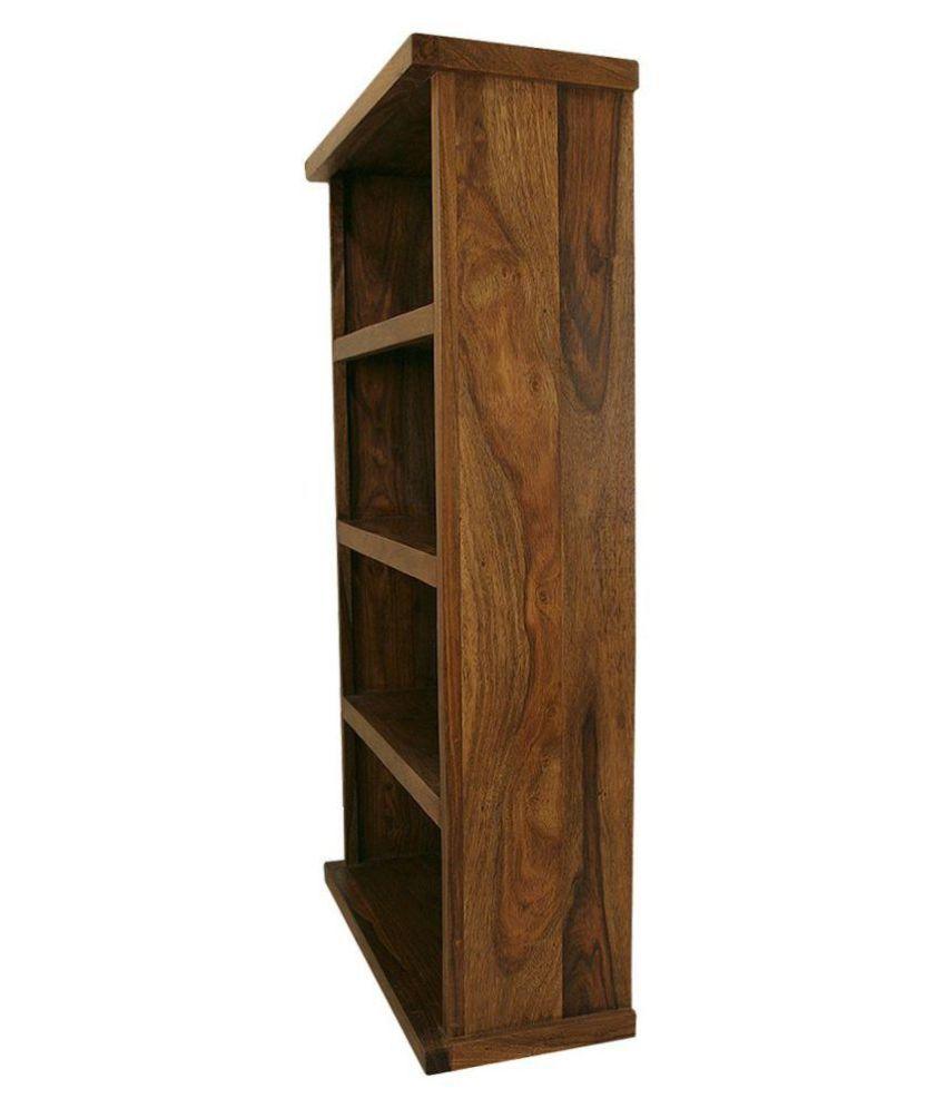 Angels Solid Sheesham Wood Open Space Saver Bookshelf Honey