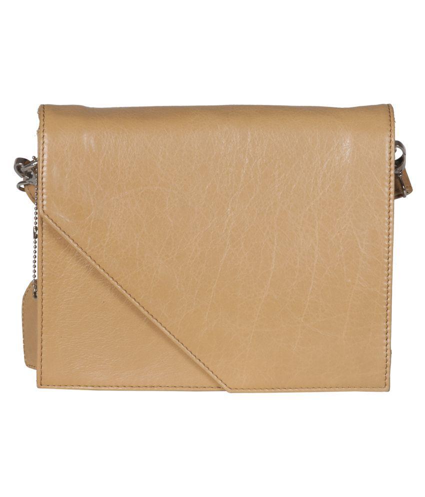 Faro Wheat Pure Leather Shoulder Bag