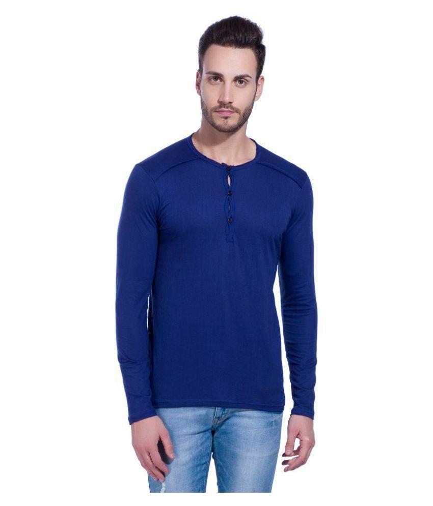 LEWEL Navy Henley T-Shirt