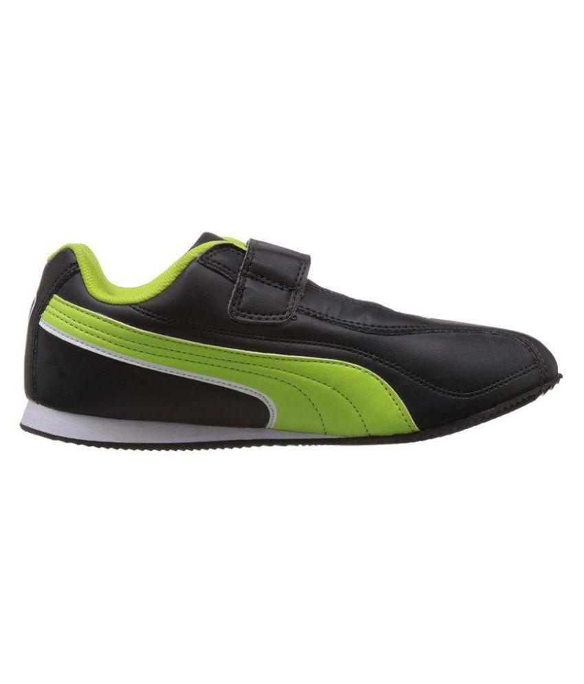 nouveau concept 8e35b 3c640 Puma Wiki Jr DP black-macaw green-white Lifestyle Black Casual Shoes
