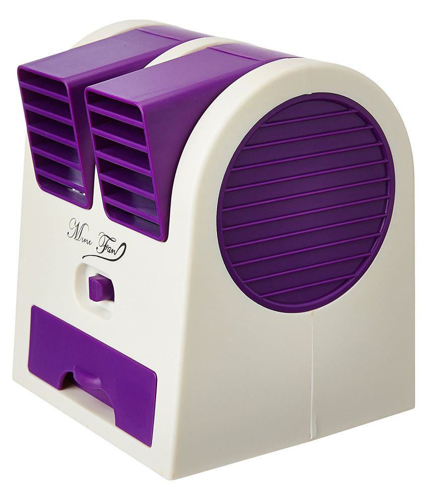 Goyal Trading Mini Portable USB Cooler Fan with 50ml Water Storage for Car Home Laptop - Assorted Color
