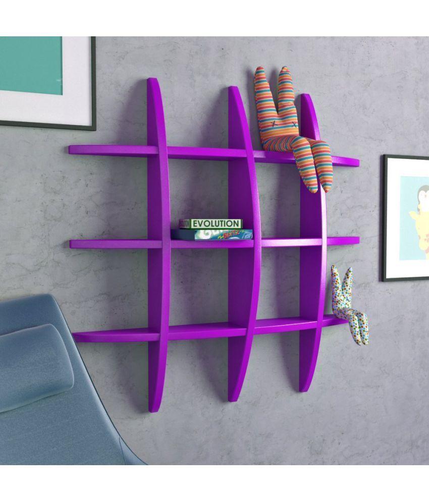 Royals Floating Shelf/ Wall Shelf / Storage Shelf/ Decoration Shelf Purple - Pack of 1