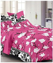 Angel Home Cotton Double Bedsheet with 2 Pillow Covers
