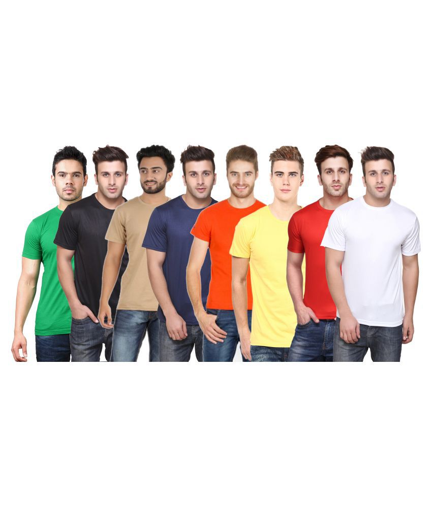 CONCEPTS Multi Polyester T-Shirt Pack of 8