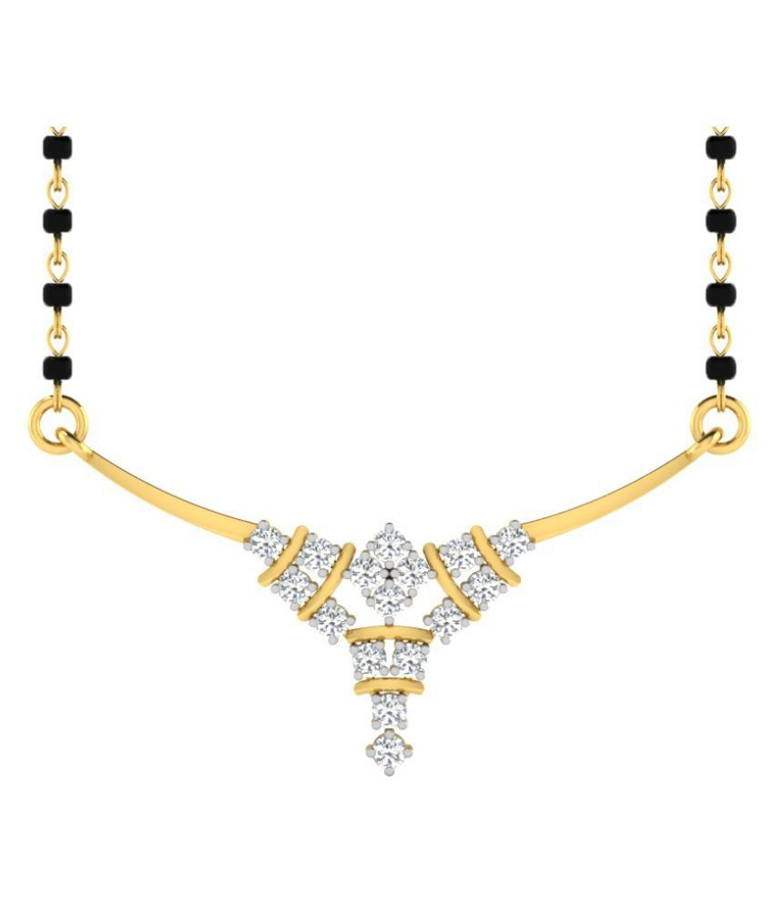 His & Her 14k Yellow Gold Diamond Mangalsutra