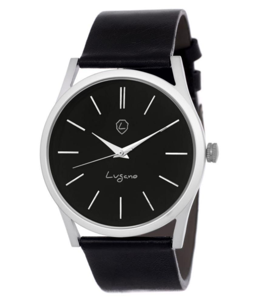 e3c57991e Lugano LG 1103 Exclusive Black Slim Series Watch - For Men - Buy Lugano LG  1103 Exclusive Black Slim Series Watch - For Men Online at Best Prices in  India ...