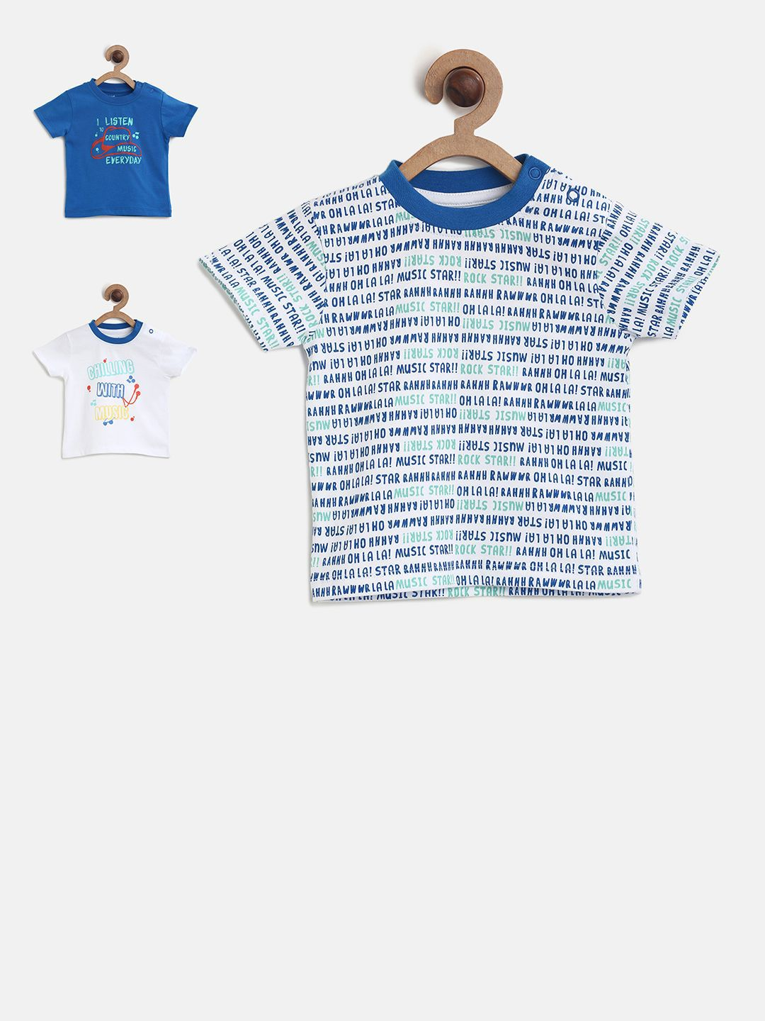 Pack of 3 Care Baby Boys T-Shirt