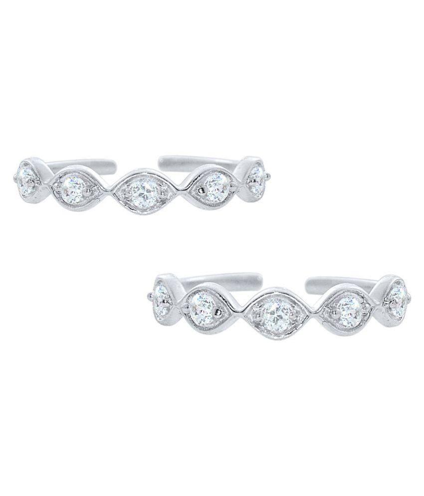 Silver Dew Silver Toe Rings