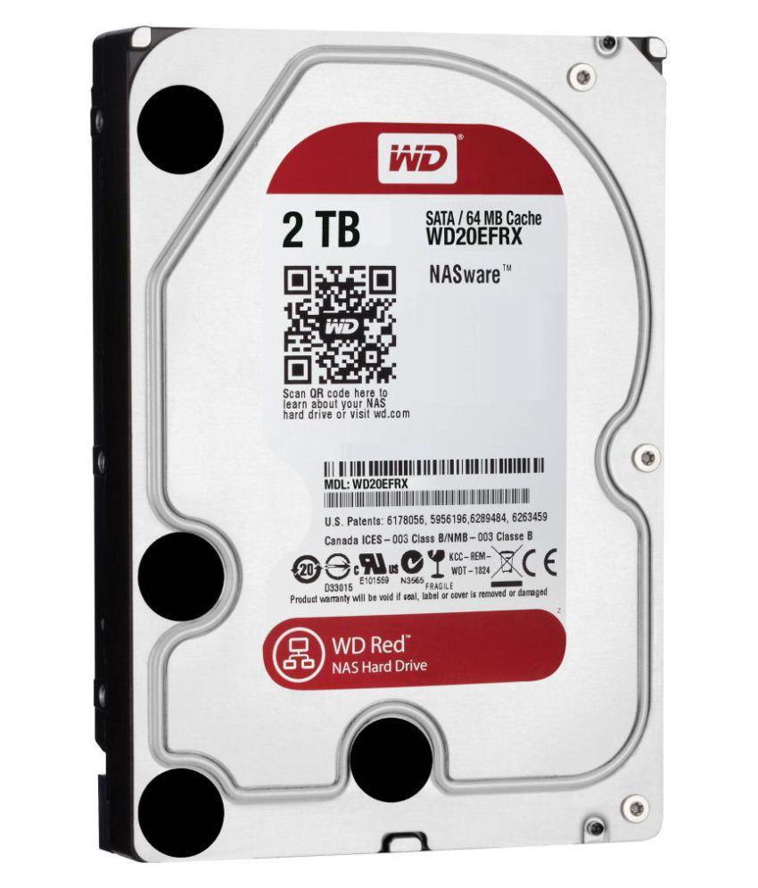 Western Digital 2TB SATA Internal Surveillance Hard Drive (WD20PURZ) 2 TB Internal Hard Drive Internal Hard drive
