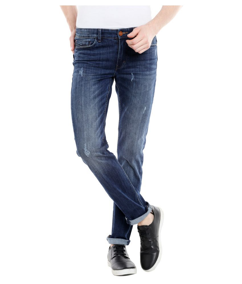 Fast n Fashion Dark Blue Straight Jeans