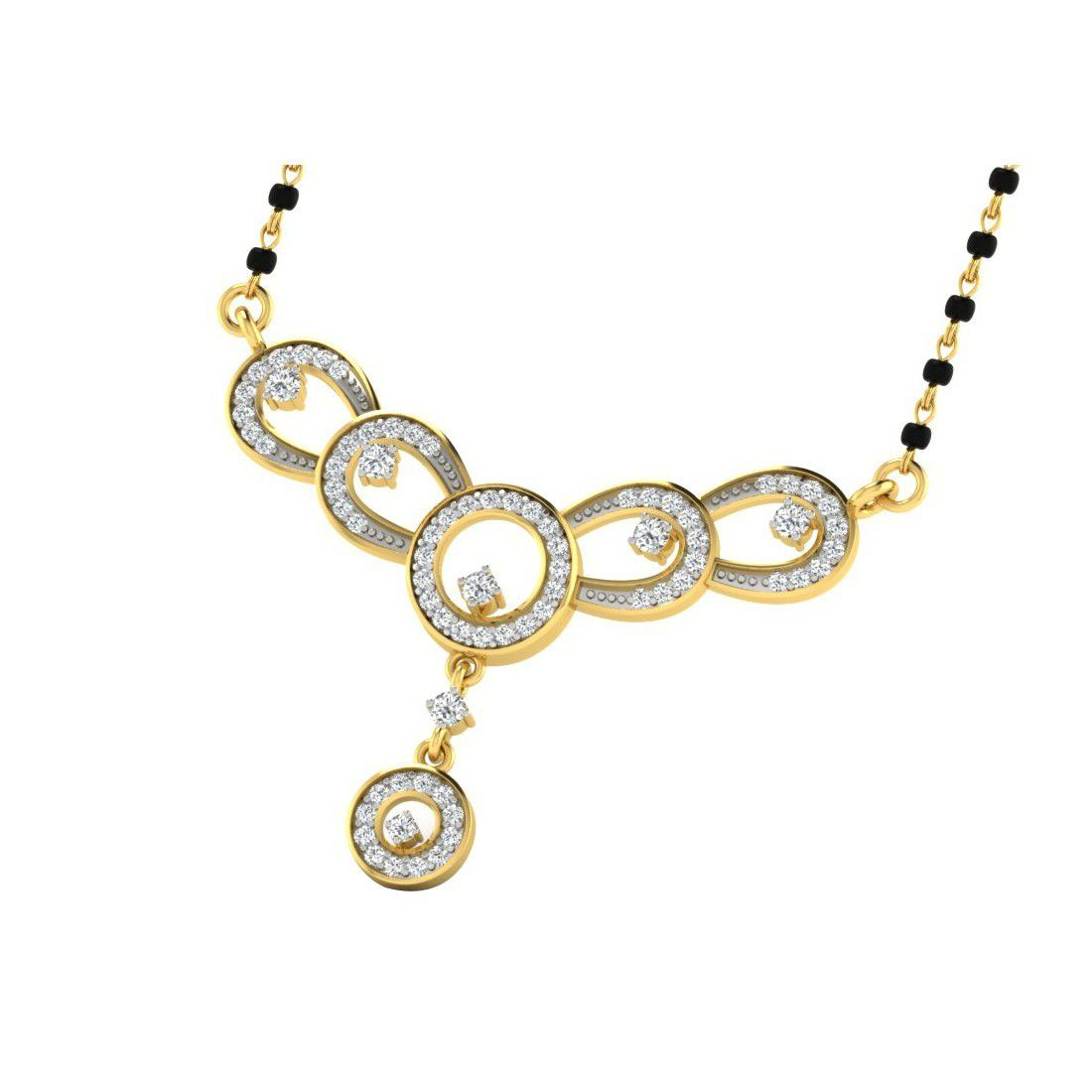 His & Her 18k Yellow Gold Mangalsutra