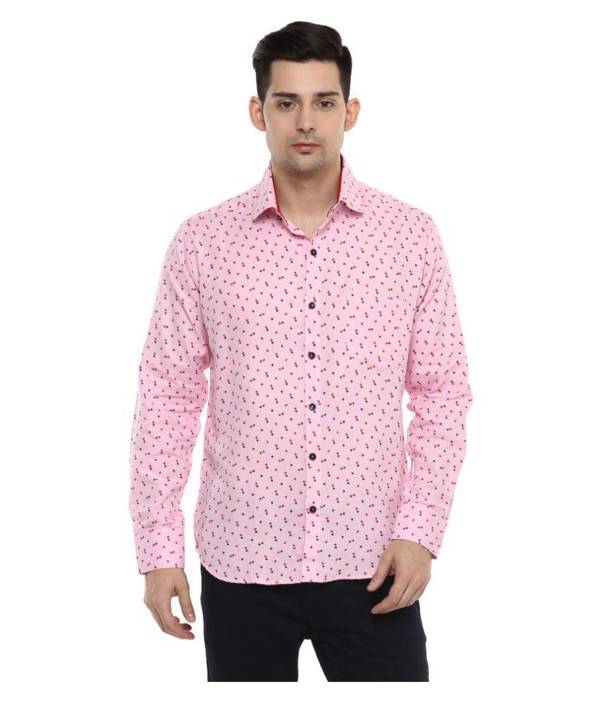 Lobster Pink Regular Fit Shirt