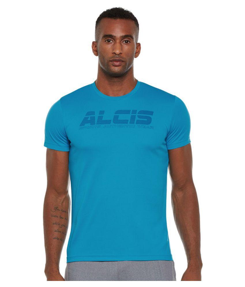 Alcis Men Printed Blue Tee