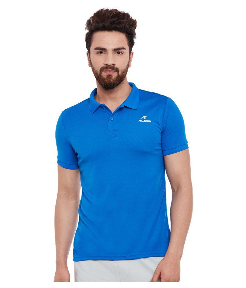 Alcis Men Solid Blue Polo