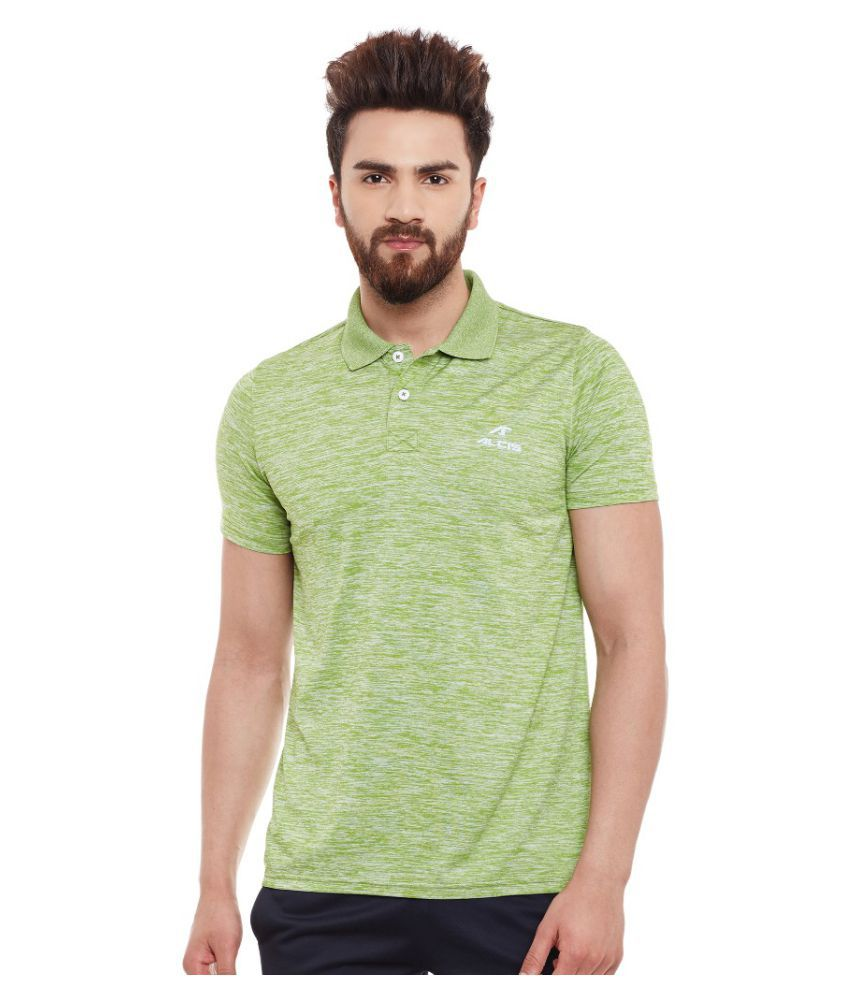 Alcis Men Solid Green Polo