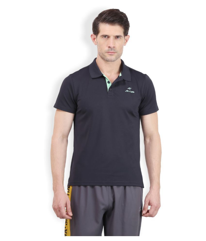 Alcis Men Solid Grey Polo