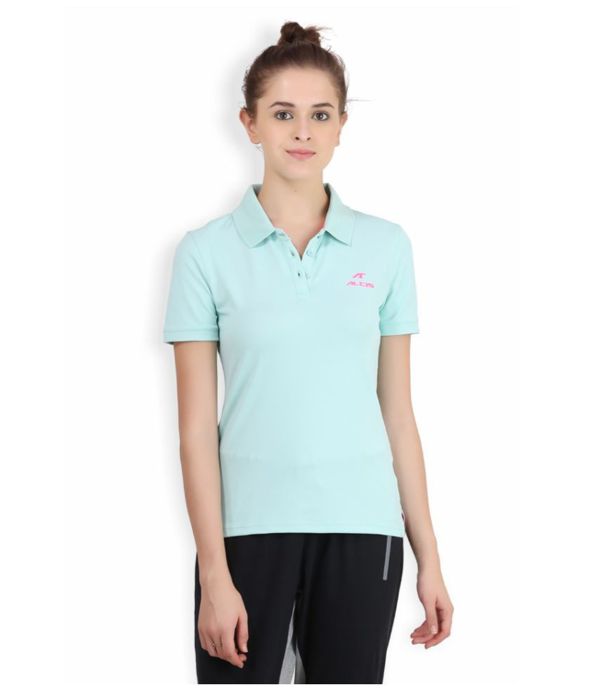 Alcis Women Solid Green Polo