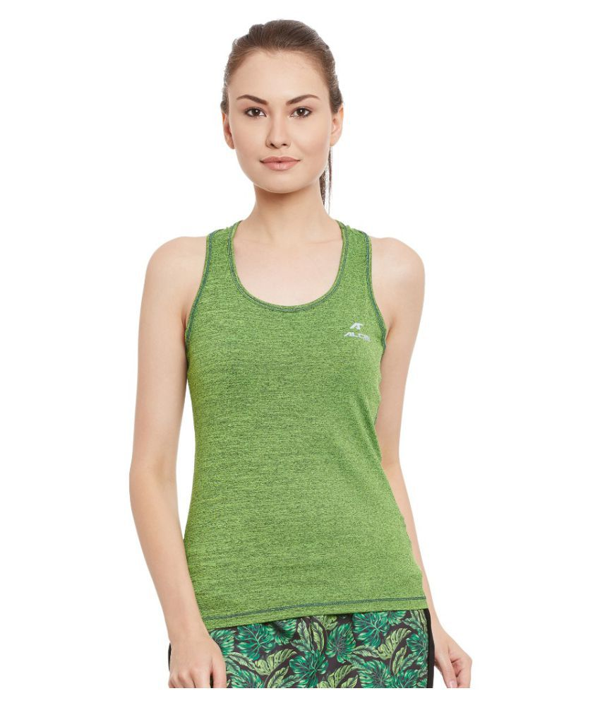 Alcis Women Solid Green Top
