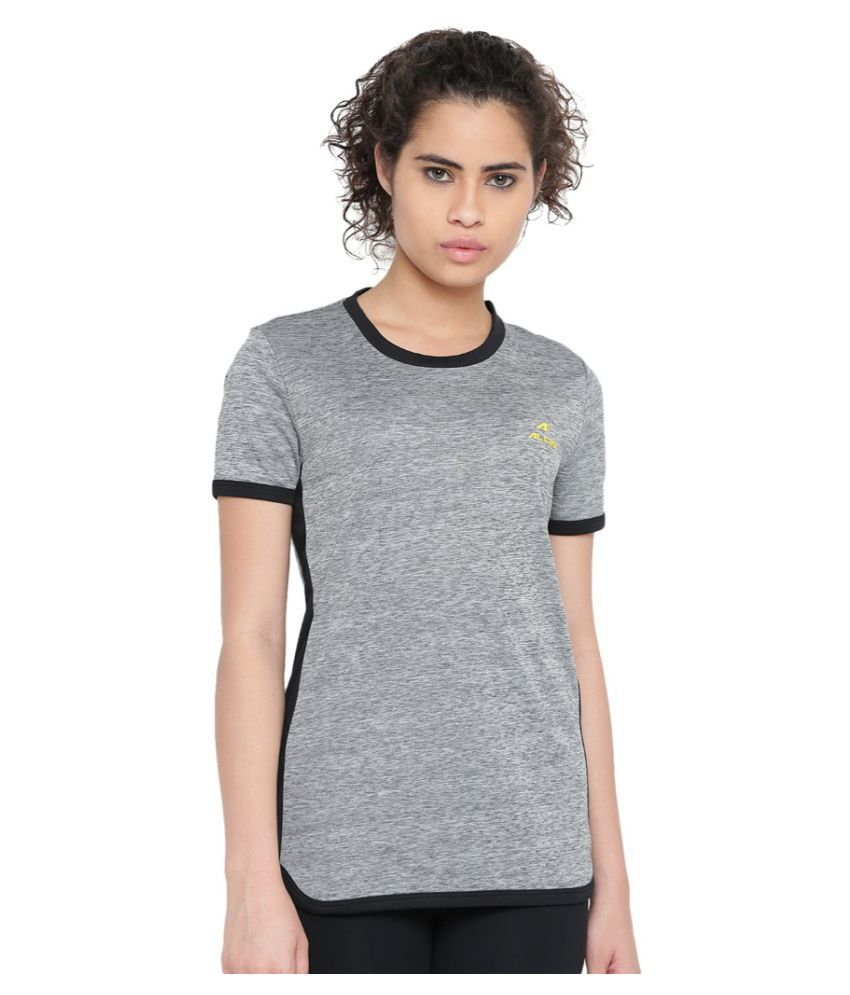 Alcis Women Solid Grey Tee