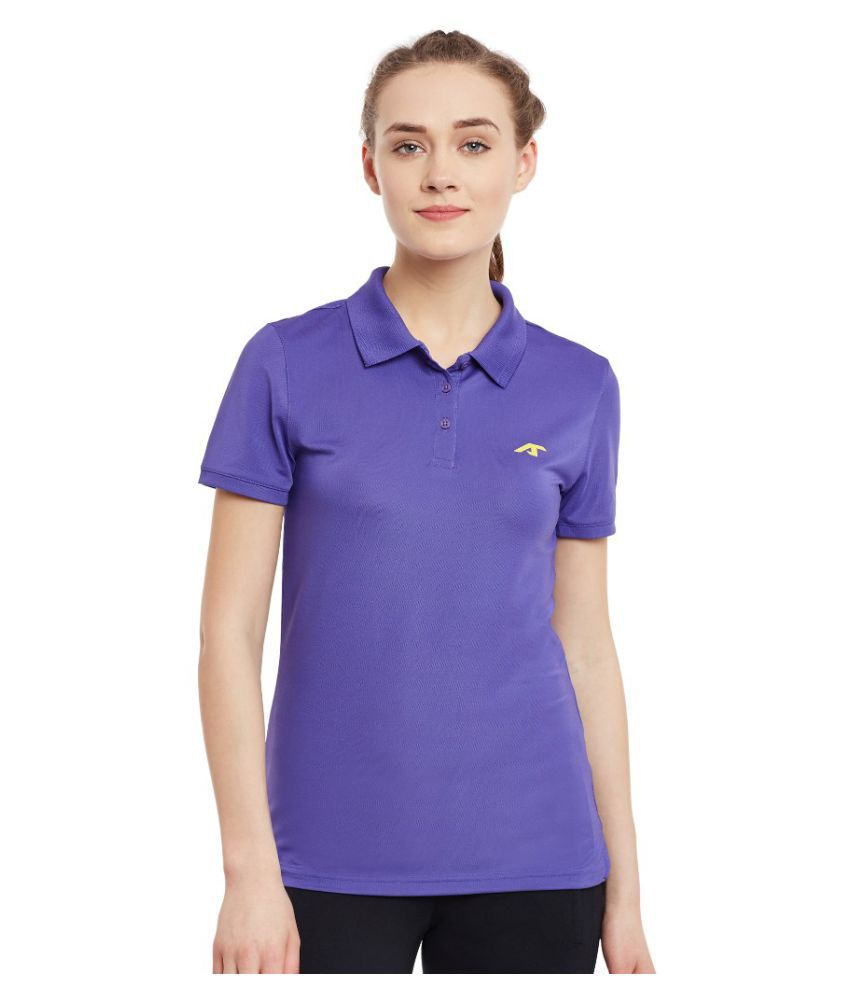 Alcis Women Solid Purple Polo