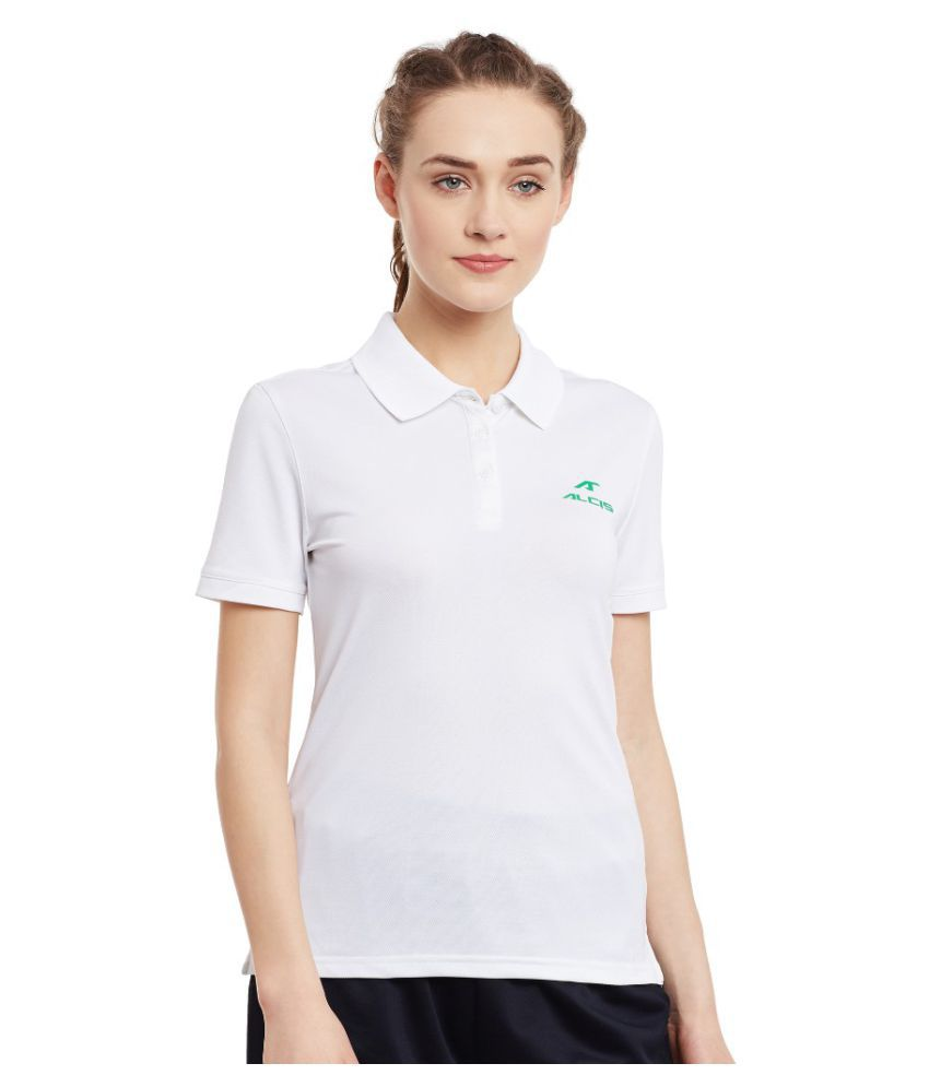 Alcis Women Solid White Polo
