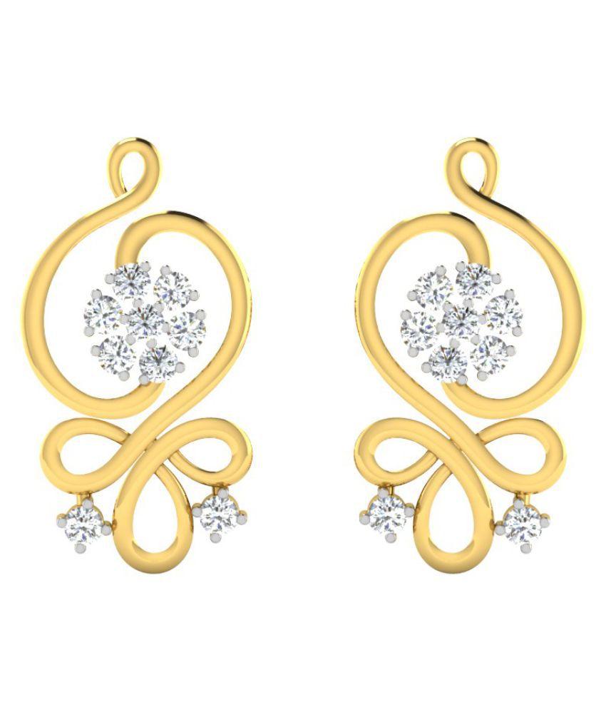 His & Her 14k Yellow Gold Diamond Hangings