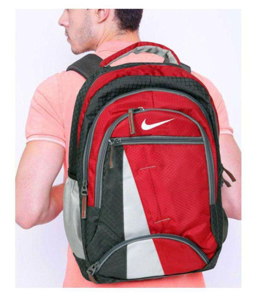 Nike Branded Laptop Backpack Red (35 Litres)