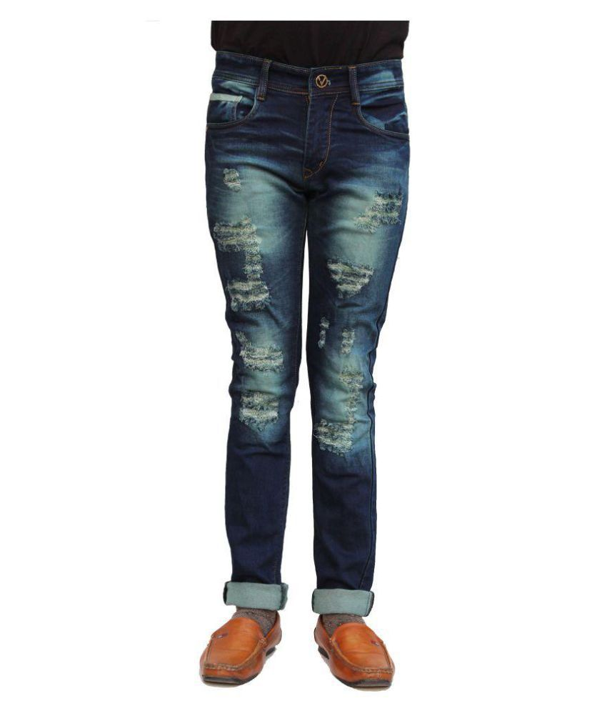 vertices Blue Relaxed Jeans
