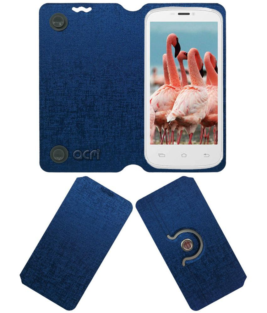 Celkon Signature HD A119 Flip Cover by ACM - Blue
