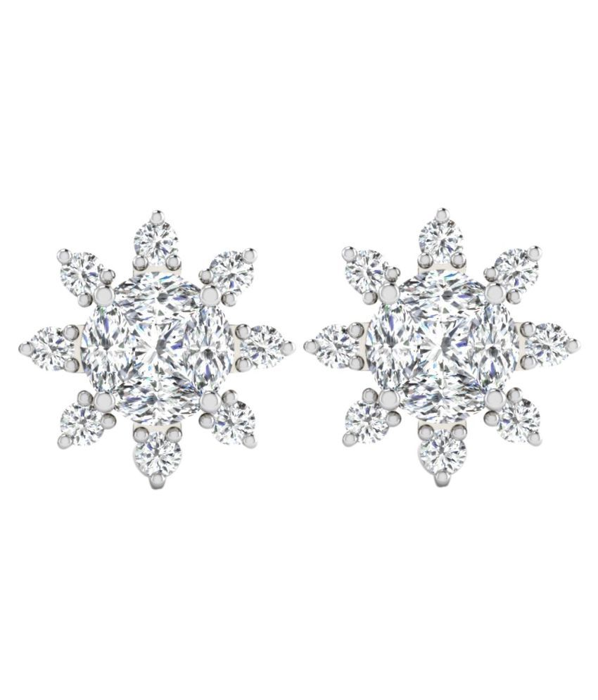 His & Her 14k White Gold Diamond Studs