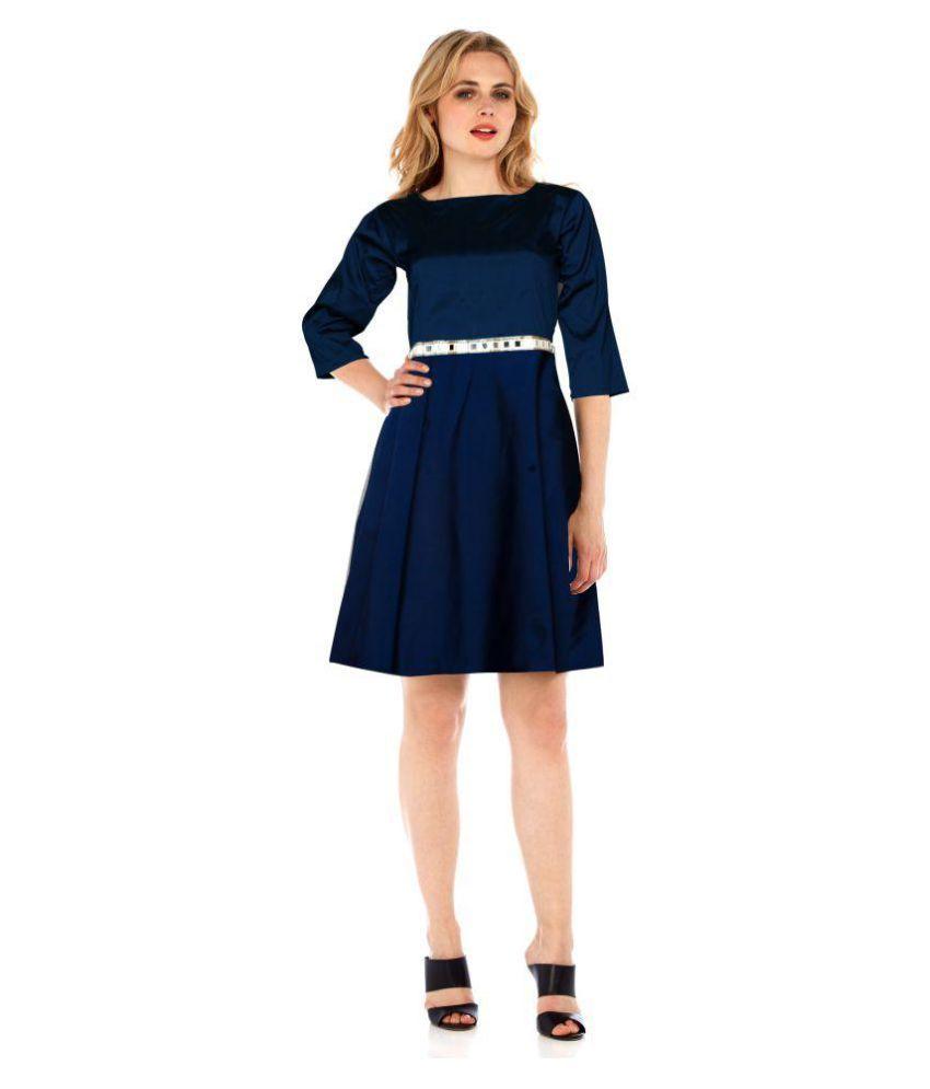 Trushna Designer Silk Blue Dresses