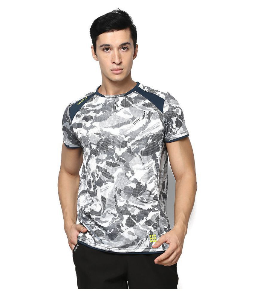 Rock.it Grey Polyester T-Shirt