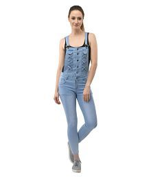 AAKRITHI Denim Blue Jumpsuits