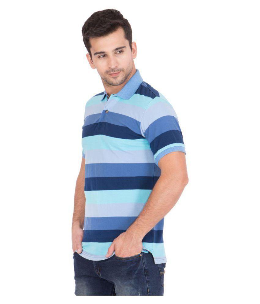 You Fashion Blue V-Neck T-Shirt