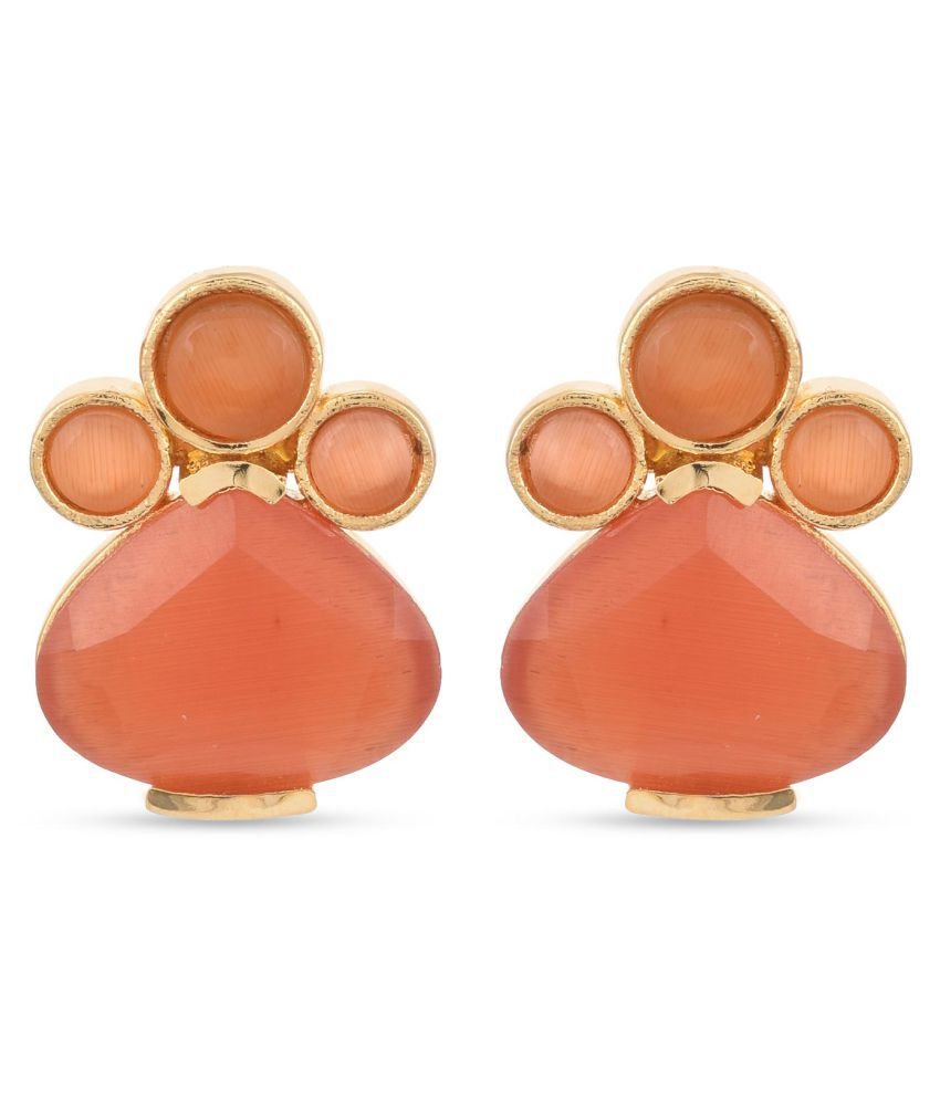 Tistabene Contemporary Colored Stone Latest Trendy Party Wear Stud For Women and Girls (ER-3255)