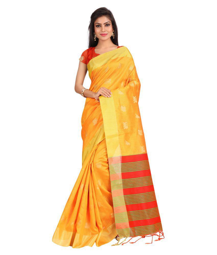 Just Fashion Gold Banarasi Silk Saree