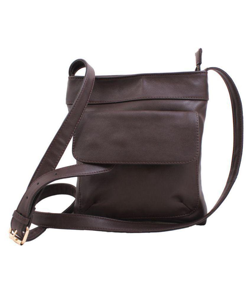 STYLESENSE SS0046 Brown P.U. Casual Messenger Bag