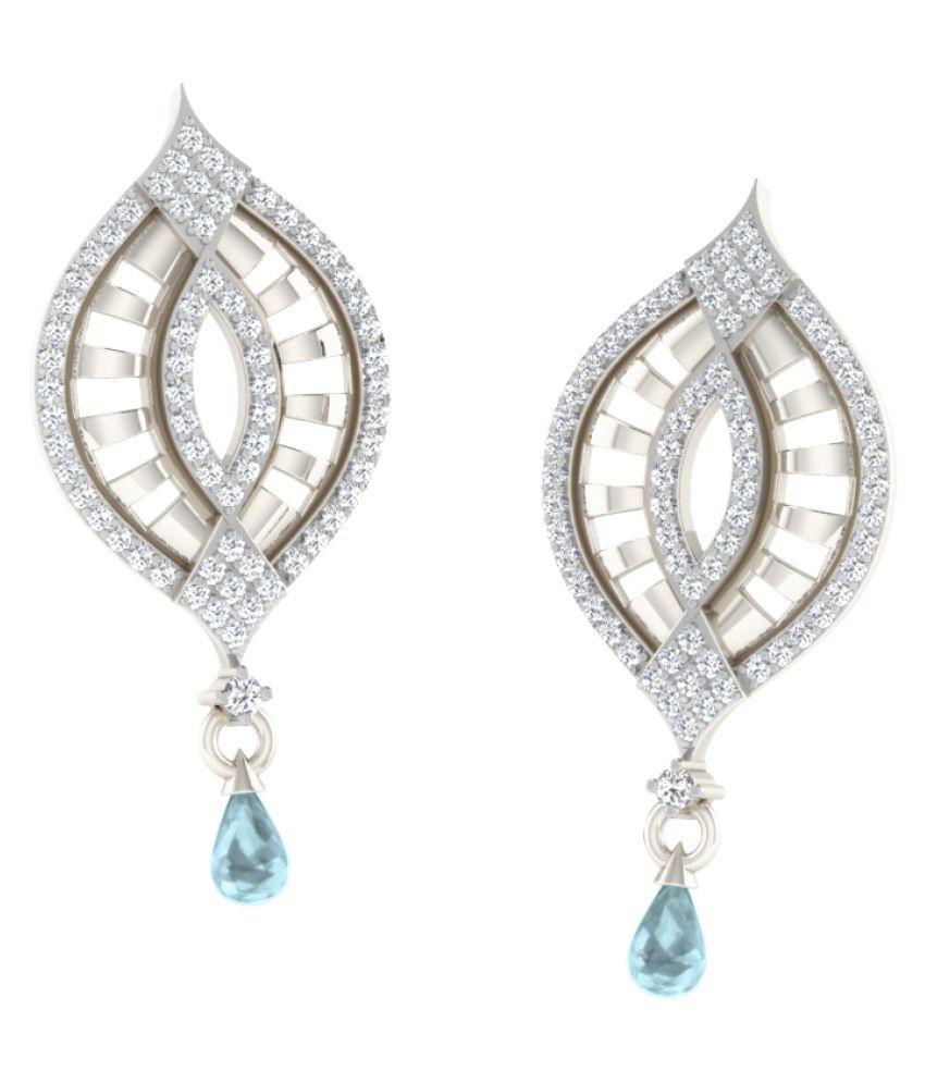 His & Her 92.5 Silver Aquamarine Drop Earrings