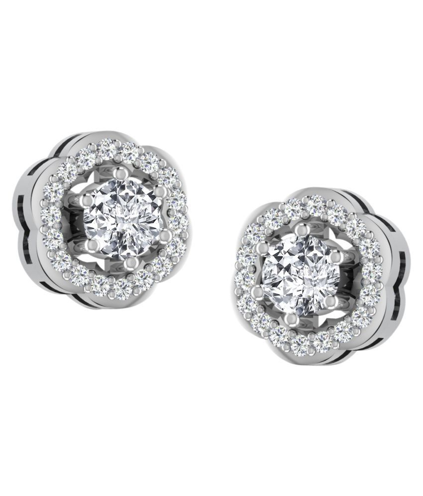 His & Her 92.5 Silver Sapphire Studs