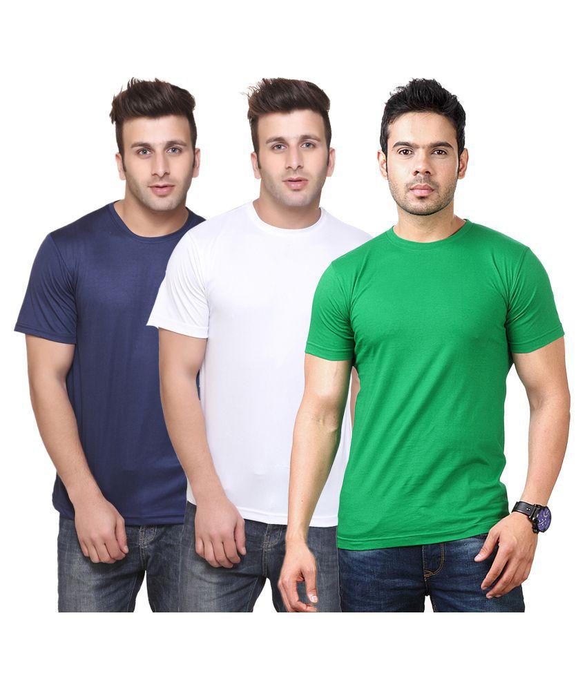 FUNKY GUYS Multi Round T-Shirt Pack of 3