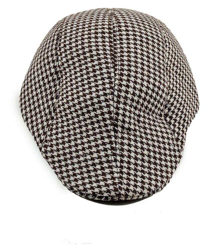 Tiekart Brown Plain Cotton Caps