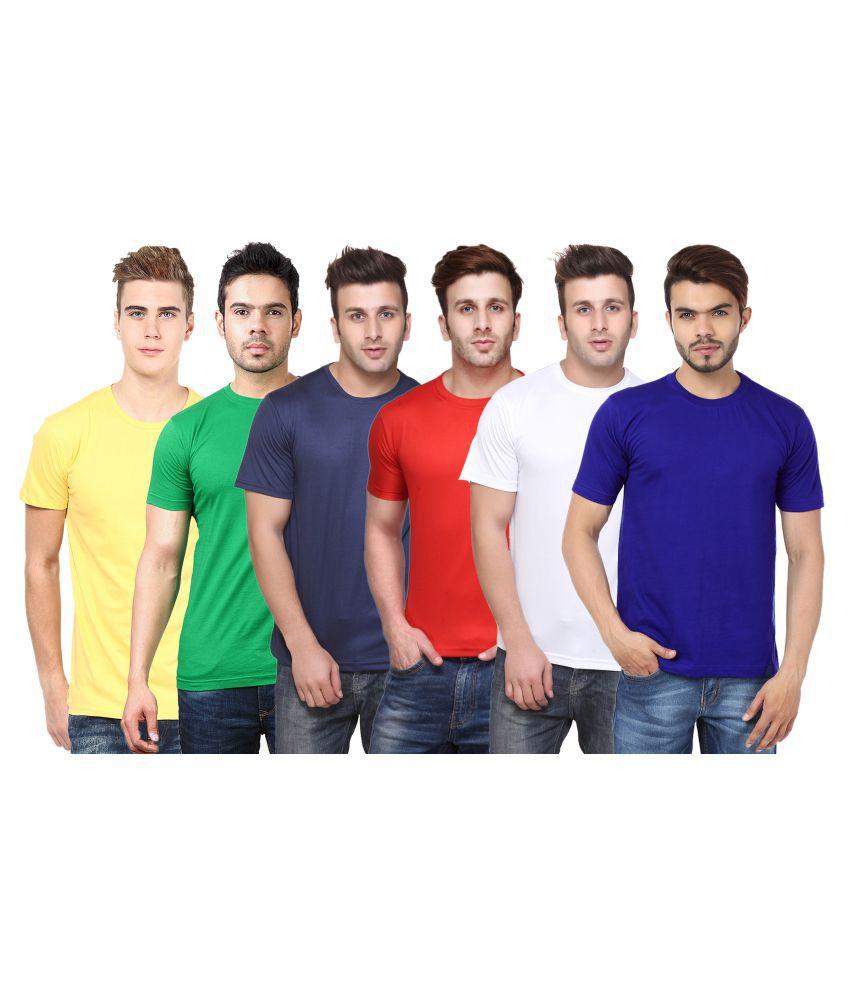 FUNKY GUYS Multi Round T-Shirt Pack of 6