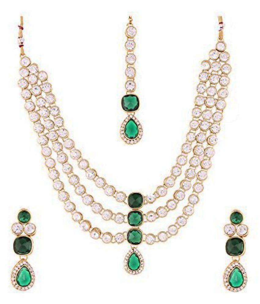 f1f4ff58b33bc Mokanc Famous Crystal Jewelry Set in Bottle Green