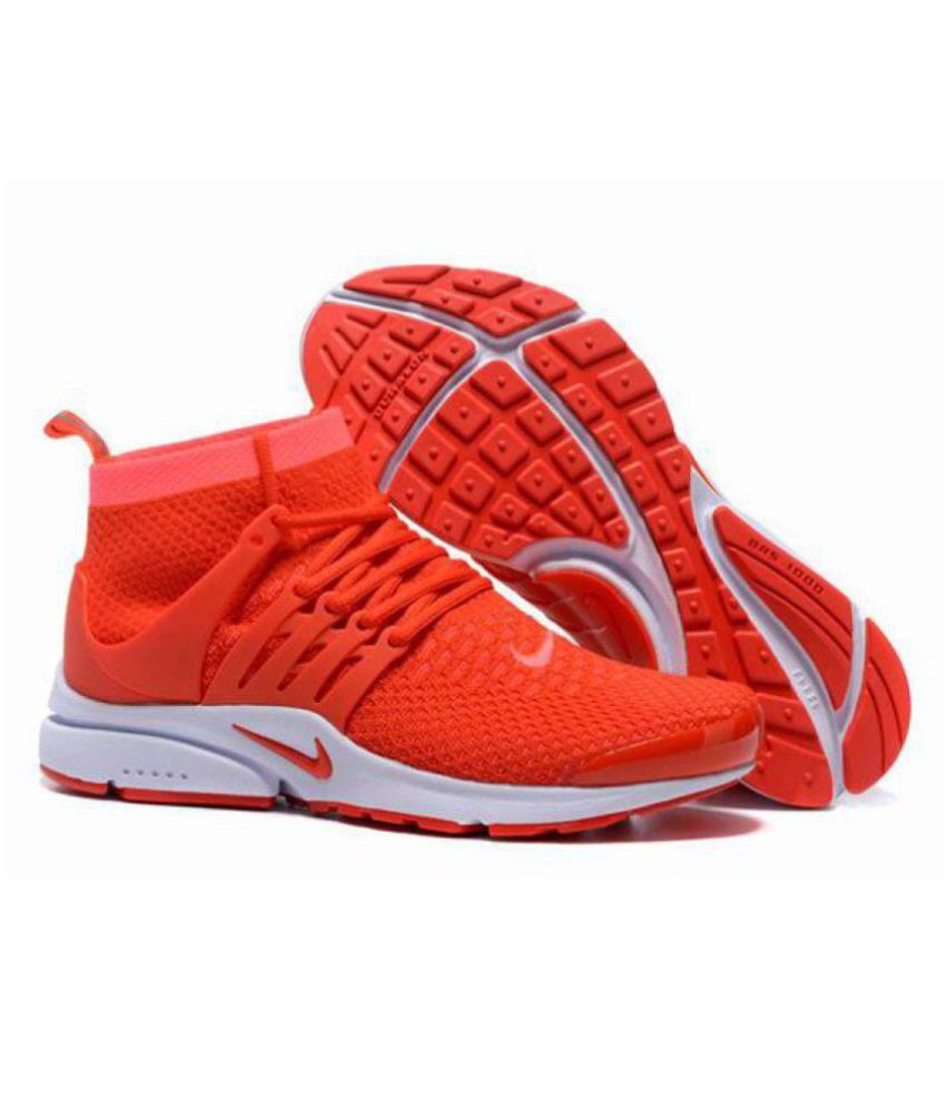 new arrival d65c5 3dffa Nike Air Presto Ultra Flyknite Red Running Shoes - Buy Nike Air Presto  Ultra Flyknite Red Running Shoes Online at Best Prices in India on Snapdeal