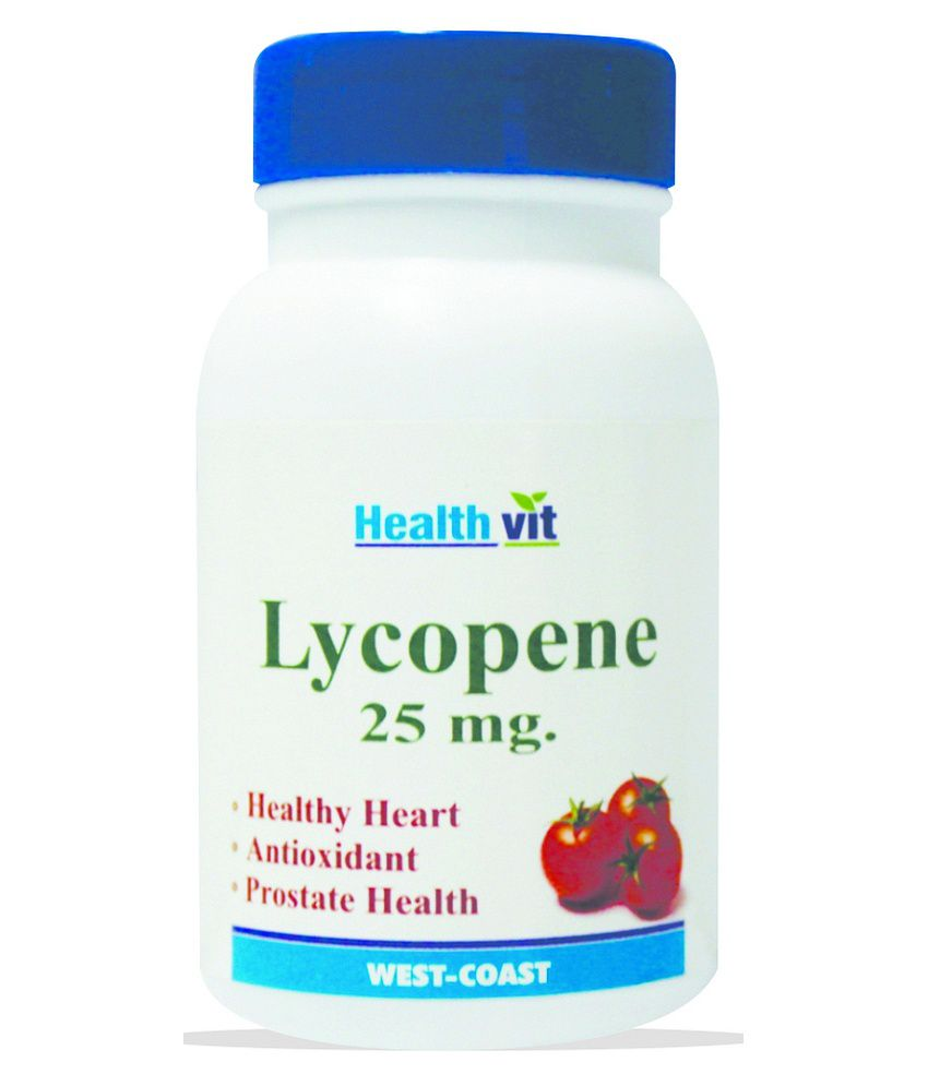 Healthvit LYCOPENE 25 MG 60 Tablets For Healthy Heart -Pack of 2