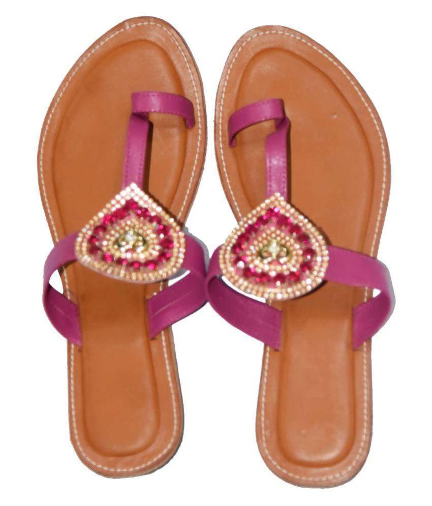 Decot Paradise Purple Ethnic Footwear