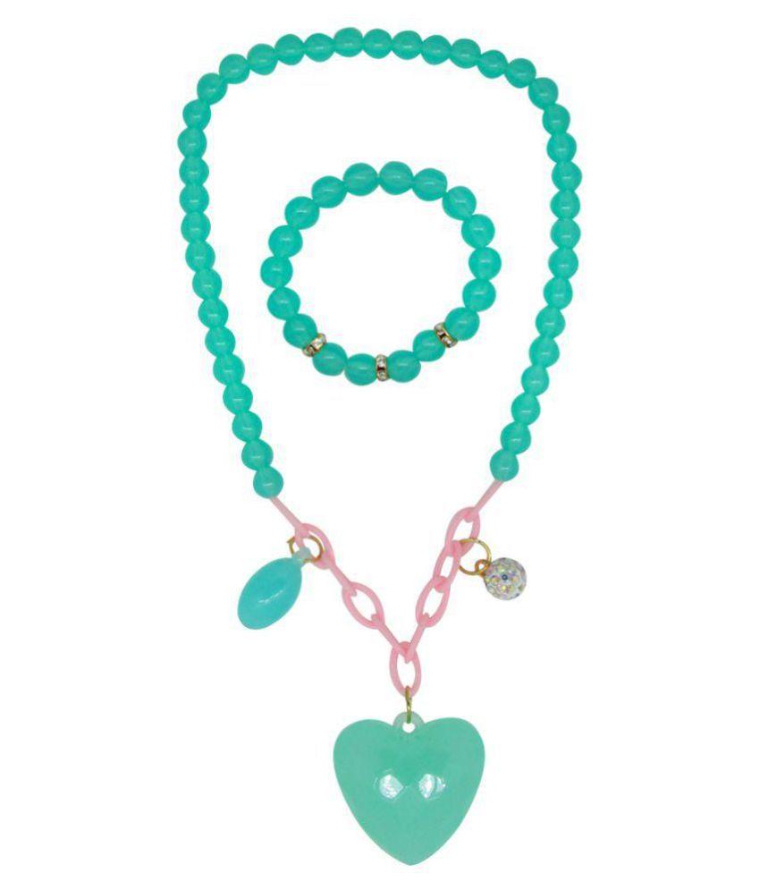 Blue Pearl And Heart Shape Kids Jewellery