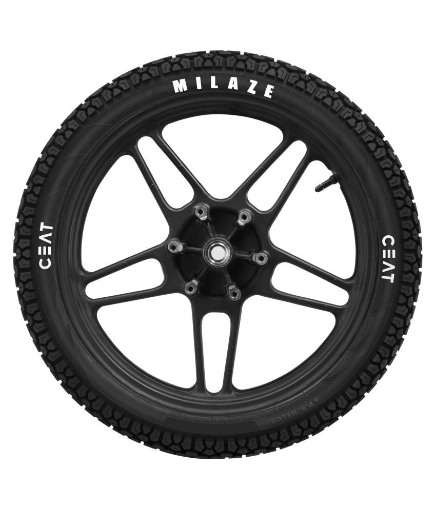 Ceat Milaze 3.00   18 52P Tubeless Bike Tyre, Rear  Home Delivery